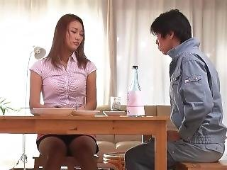 Nao Wakana Get Fucked In Front Of Her Disabled Husband