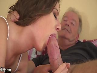 Big Cock Grandpa Fucks Tiny Pussy Teen Ends With Open Mouth