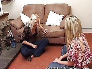 Abbi And Tracey Play Strip Spin The Bottle