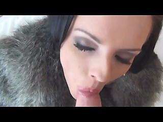 Kari Sweet - Blowjob In Fur Coat 1