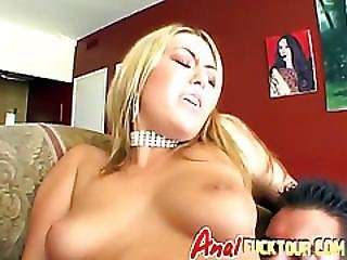 Beautiful Blonde Babe Begs Her Man To Fuck Her Tight Asshole
