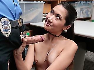 Asian Teen Shoplifter Jade Gets A Hot Sex