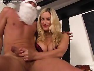 Mistress Nikki - Ballbusting Santa Claus