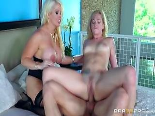 Mom And Daughter Share Cock   Brazzers