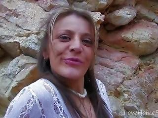 Trim Milf Gets Seduced And Fucked Outdoors