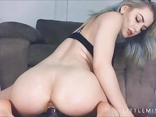 Littlemisselle First Ever Bad Dragon Dildo W Creampie Pussy Stretching