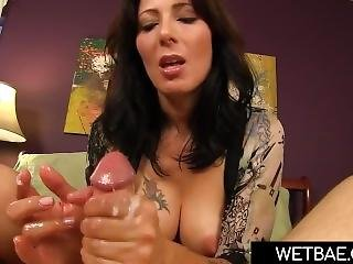 Super Hot Step Mom Helps Son