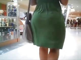 Finest Jiggly Bubble Butt Pawg In Green Dress