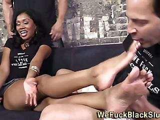 Black Slut Sucks Whiteys