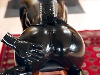 Spanked In Head To Toe Latex