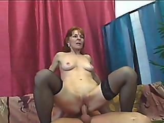Brunette Granny Ivet Riding Big Dick Fucking