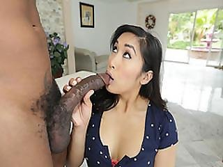 Mia Li Sucking A Big Black Cock Deep Throat