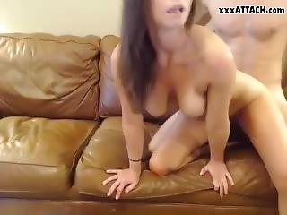 Busty Milf Serves A Huge Dick