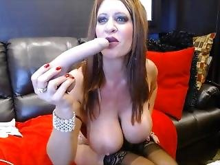 Real Busty Hottie Jade Fists Squirting Gaping Cunt