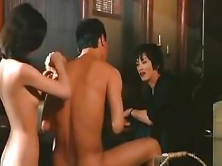 Japanese Ninja Bathing Threesome