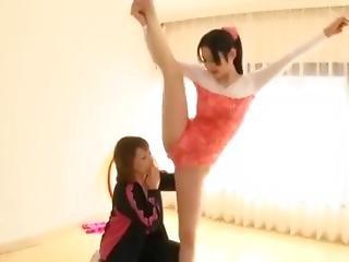Hot Extremely Flexible Babe Azumi Mizushima In Blue Leotard + Fucking