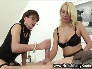 British Domina Milks Cock