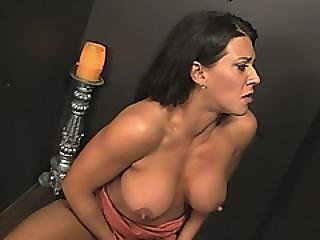 Busty Milf Throats Dick In Gloryhole Porn Special