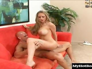 Some Lucky Stud Picked Up The Adorable, Long Blonde Haired Milf, Abbey Gale