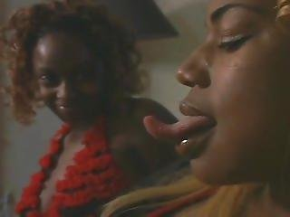 Black Lesbian Long Tongue Kissing