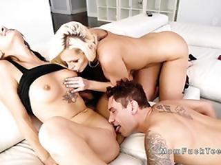 Huge Ass Milf Bangs In Teen Threesome
