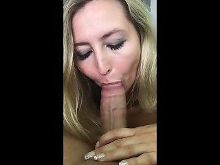 Milf With Huge Tits Gives Sloppy Blowjob To Huge Cock