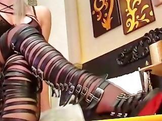 Smoking Pantyhose Mistress Part1