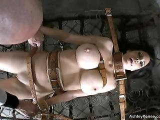 Ashley Renee Bound With Medical Restraints To Bare Mattress Springs