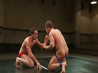 Horny Studs Wrestling Each Other