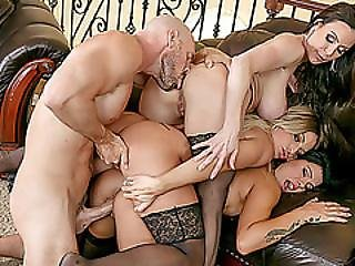 Luckiest Man On Earth Bangs Her Three Stunning Housewives