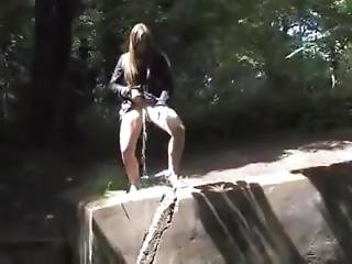 Skank Pissing In The Woods