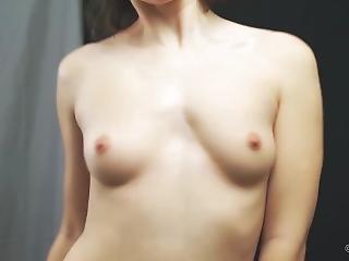 amateur, chick, borst, brunette, russisch, sexy, kleine tieten, solo, Tiener
