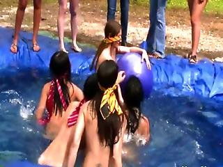 Outdoor Lesbian Initiation With Humiliation