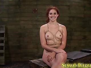Bondage Sluts Pussy Caned