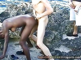 White Pervs Take Turns To Fuck Hot Ebony