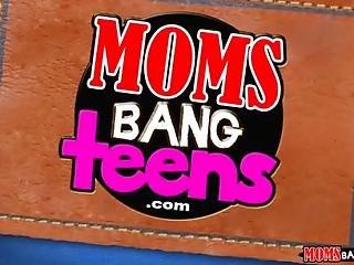 Moms Bang Teen - Teen And Milf Fuck The Poolboy