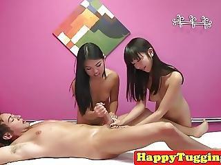 Aziatisch, Massage, Trio