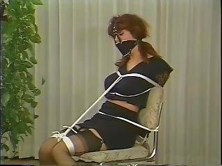 Chair Tied And Muzzle Gagged