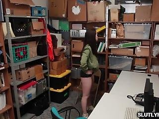 Shoplifter Jennifer Jacobs Was Instructed To Bend Over Her Fine Ass On The Desk And She Did The Lp Officer Starts Working On Her Tight Pussy From Behind He Stick His Big Meat Deep Inside Her Pussy From Behind And Pound Jennifer In A Doggystyle Position