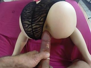 Girlfriend Loves Doggie And Cum In Her Mouth