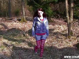 Amateur, Brunette, Forest, Fucking, German, Hardcore, Outdoor, Public