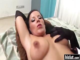 Hairy Babe Gets Jizz On Her Bush