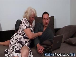 Plowed Granny Cum Creamed