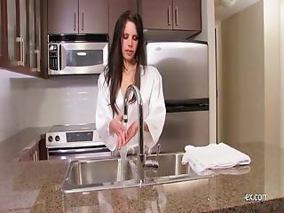 Masturbating On The Kitchen Sink