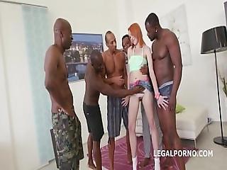 Gaping Teen Slut Rebecca Battles 5 Black Monster Cocks In Epic Dp