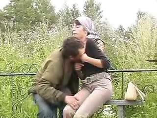 Horny Widow With Homeless Guy And His Shaft