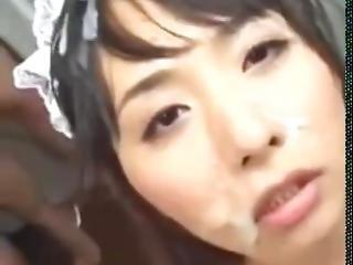 Japanese Bukkake With Cum On Hair