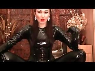 Dominatrix In Pvc Catsuit