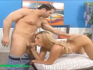 Big Onion Booty Camel Toe Blond Gets Big Ass Fucked And Cum On Tight Pussy