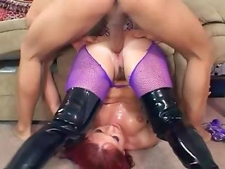 Black, Boots, Booty, Crotchless, Fishnet, Lingerie, Nylon, Panties, Pantyhose, Sex